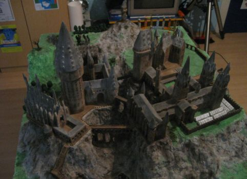 My Hogwarts grounds model by SandrinoP