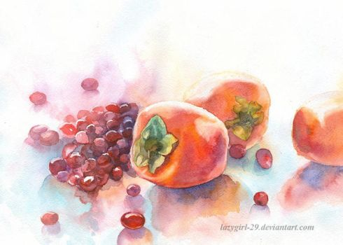 persimmons and cranberries by lazygirl-29