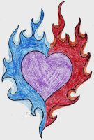 flamed heart of mine by MarsLilyfang