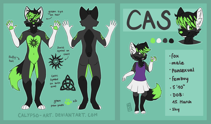 [C] Cas Reference Sheet by calypso-art