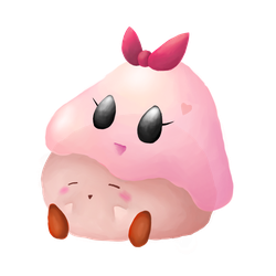 Kirby and Chuchu by SillyEwe