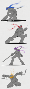 TMNT - The Turtles by Anime-Grimmy