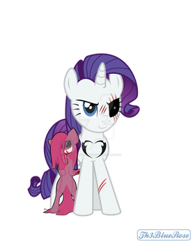 Lil' Miss Rarity - Vector Edit (Sp00py Mane 6 3/6) by Th3BlueRose