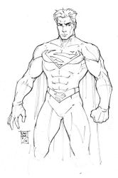 Pencil Work: Superman by DaggerPoint