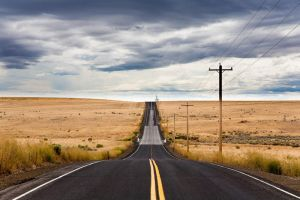 Road in East Washington State by dlacko