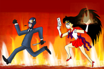 Spy VS Sailor Mars by ZeFrenchM