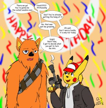 Wishing for a wookie on my birthday by MattMacroPika