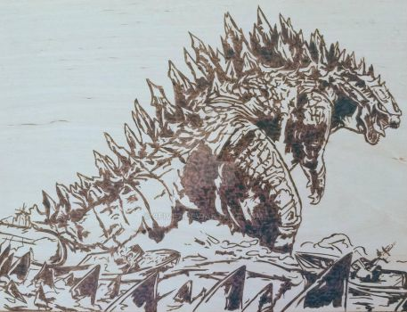 Godzilla (doesn't like your boats)  by 9FIVE7