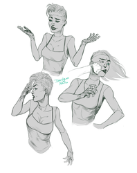 Astrid: Facial Expressions by InkyBrain