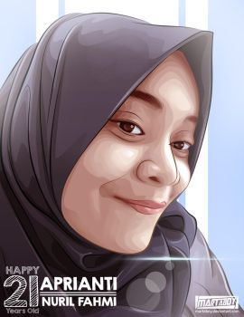 Comission Art Hijabers by martaboy