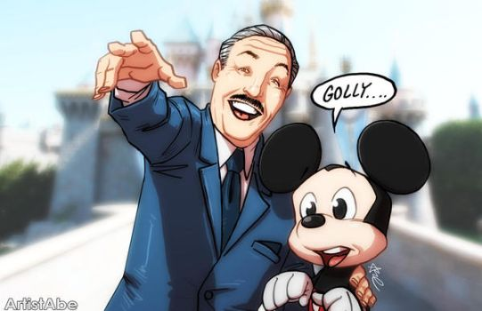 Walt Disney and Mickey Mouse by ArtistAbe