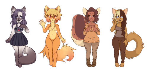 Anthro Babe Adopts -Closed- by QueenAdoptables