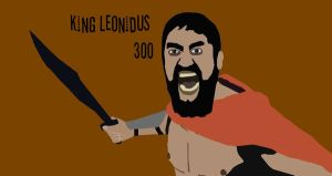 king leonidus from 300 by afterburn4