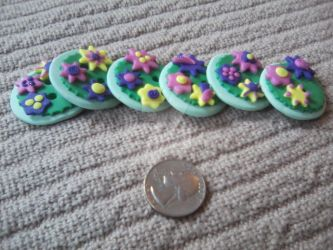 Hand-Made Polymer Buttons: Oversized! by MichelleDoherty
