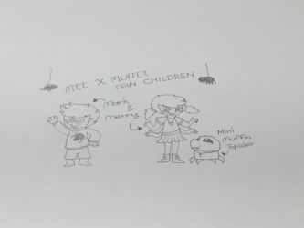 Muffetton fan children:Mark and Merry (sketch) by UndertaleMCSMfan24