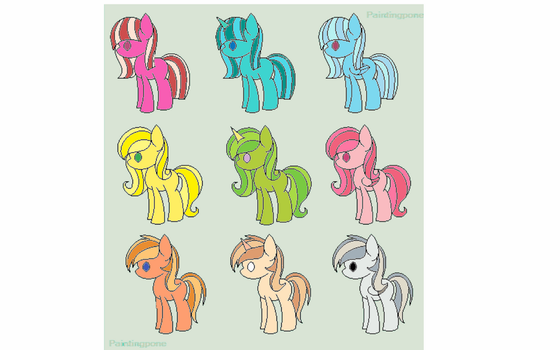 MLP pony Adopts! by GeneralKitty23
