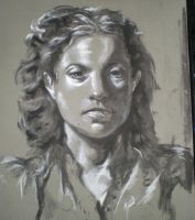 Charcoal Portrait by SinglePolygon