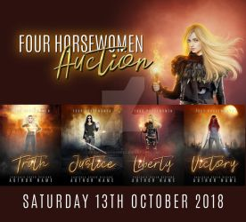 AUCTION ANNOUNCEMENT - FOUR HORSEWOMEN PREMADE SET by FantasiaCovers