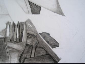 Charcoal Cutlery Reflections WIP by Wriga