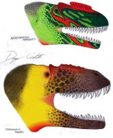 Nosed Megalosaurids by Dennonyx