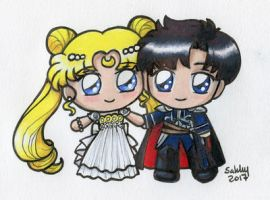 Serenity and Endymion Chibi by sakkysa
