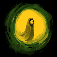 April T1 - The Girl on the Green Sun by GTK666