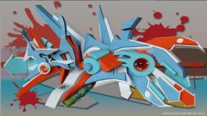 3D GRAFFITI EMOTION BY ANH PHAM by anhpham88