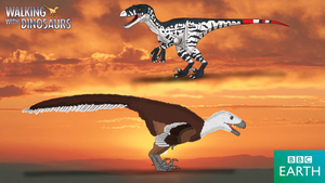 Walking with Dinosaurs: Dromaeosaurus by TrefRex