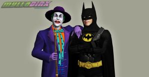 Batman and Joker (1989) by MyllaDinX