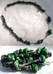 Necklace: Green turquoise by LissaMonster