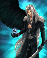 Sephiroth -one winged angel- by verdilaksBreeding