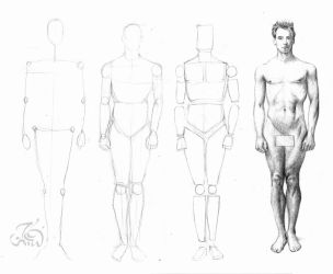 How to draw male figure by booode