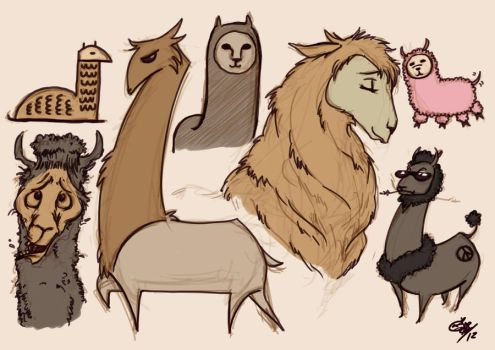 Llamas... llamas... everywhere... by ClumsyBlunder