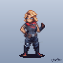 Amanda Holliday Pixel Art by Spykles