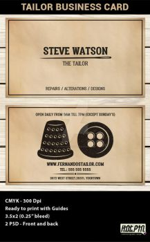 Tailor Business Card Template by Hotpindesigns