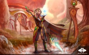...Commission: Blood Elf Mage... by ShadowPriest