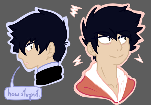 ritsu doodles by alphaAvarice