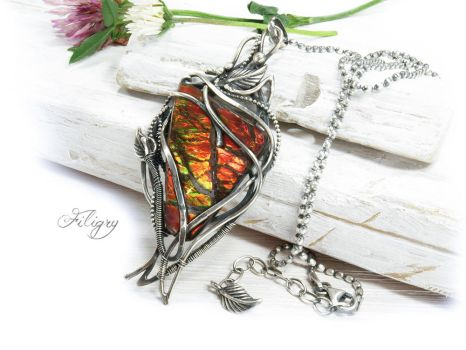 Ammolite Necklace by FILIGRY