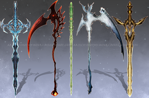 (CLOSED) - Weapon Adoptable Set #002 by Timothy-Henri