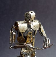 Number 5 (Articulated Watch Parts Figure) Close by AMechanicalMind