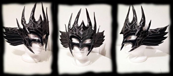 Dark Valkyrie Leather Mask by Feral-Workshop