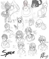 Doodle dump by StrawberryOverlord