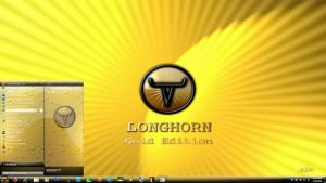 Longhorn 7, Gold Edition theme by X-ile2010