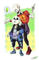 Some Sim bros by C-Puff