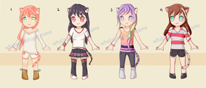 [10 POINTS - SET PRICE] [OPEN 3/4] Nekomimi Adopts by Kiruumu
