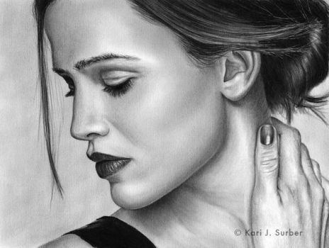 Jennifer Garner Drawing by KJS-1