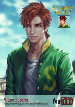 Alex from Stardew Valley by davidmccartney