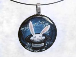 Magic Hat Bunny Pendant by sobeyondthis