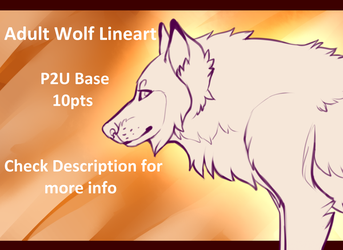{P2U} Cheap Adult Wolf Lineart by SilverPocky