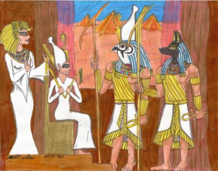 Ancient Egypt Gods by Yusiley